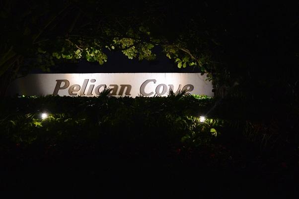 Pelican Cove sign